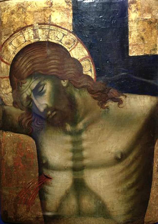 Crucifixion . Paolo Veneziano, -approximately 1362